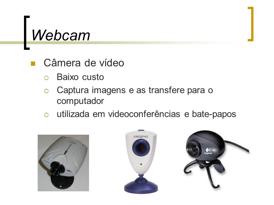 Webcam Câmera de vídeo Baixo custo