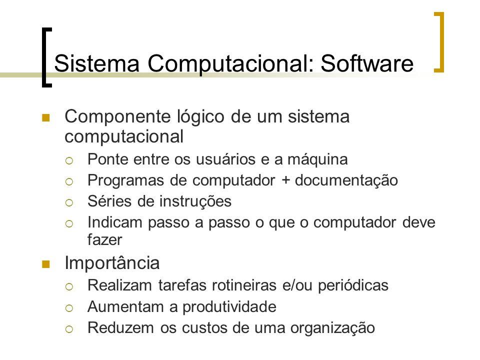 Sistema Computacional: Software