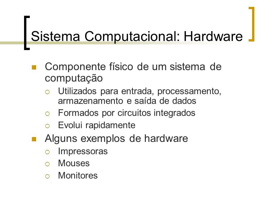 Sistema Computacional: Hardware