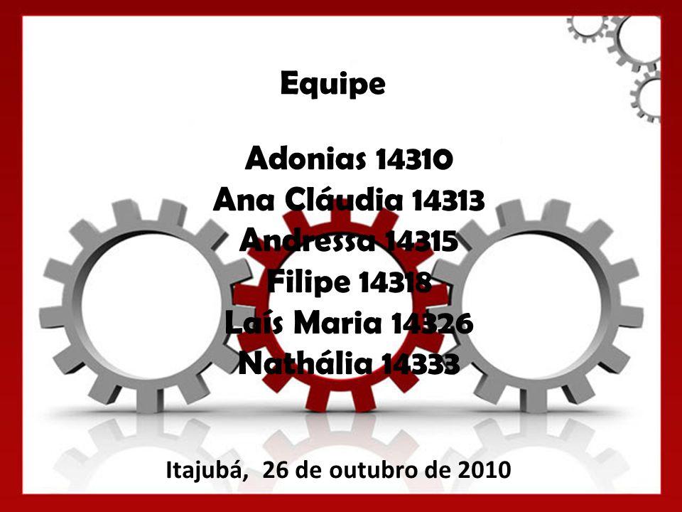 Equipe Adonias 14310 Ana Cláudia 14313 Andressa 14315 Filipe 14318