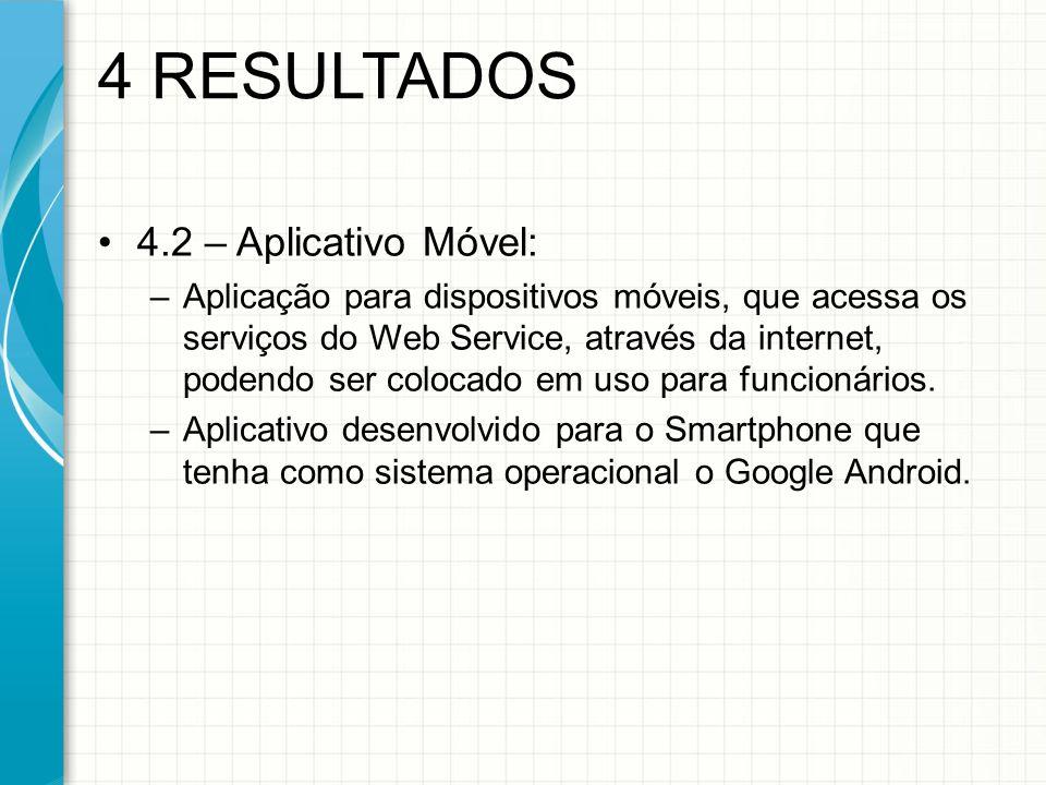 4 RESULTADOS 4.2 – Aplicativo Móvel: