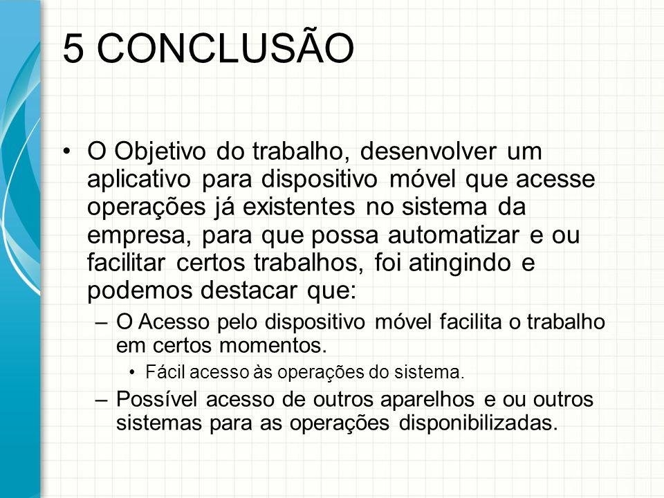 5 CONCLUSÃO
