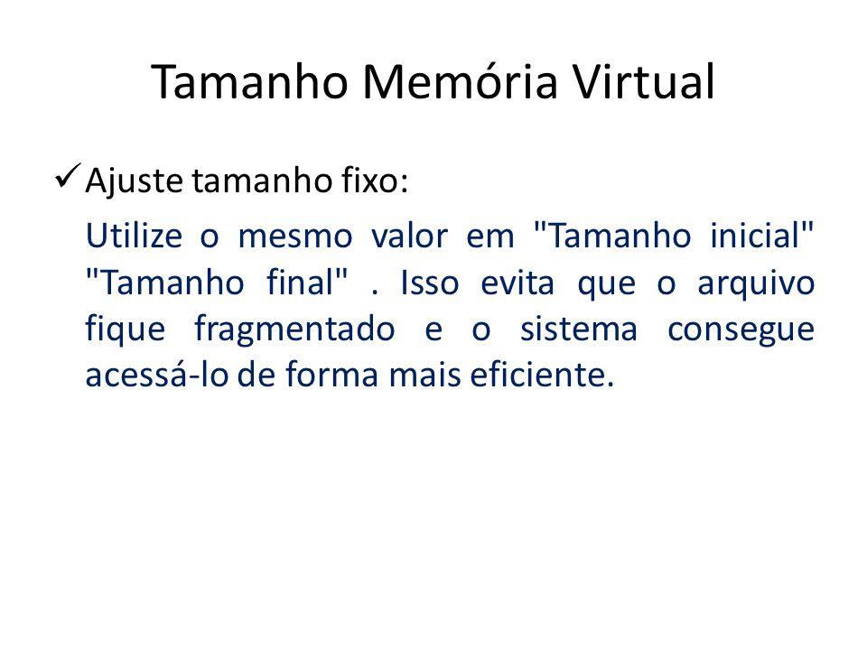 Tamanho Memória Virtual