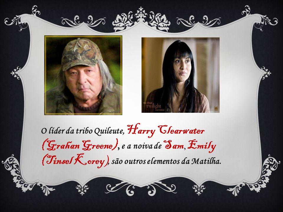 O líder da tribo Quileute, Harry Clearwater (Grahan Greene), e a noiva de Sam, Emily (Tinsel Korey), são outros elementos da Matilha.
