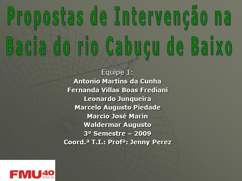 Propostas de Intervenção na Bacia do rio Cabuçu de Baixo