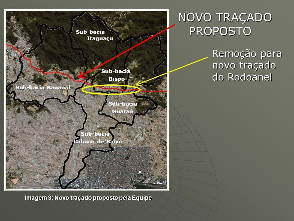 NOVO TRAÇADO PROPOSTO Remoção para novo traçado do Rodoanel
