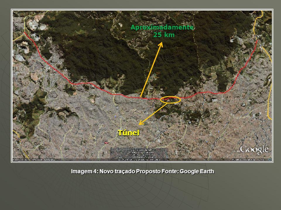 Imagem 4: Novo traçado Proposto Fonte: Google Earth