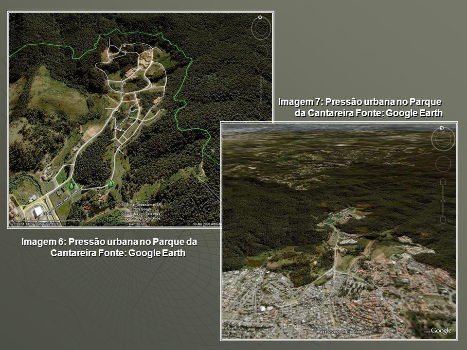 Imagem 7: Pressão urbana no Parque da Cantareira Fonte: Google Earth