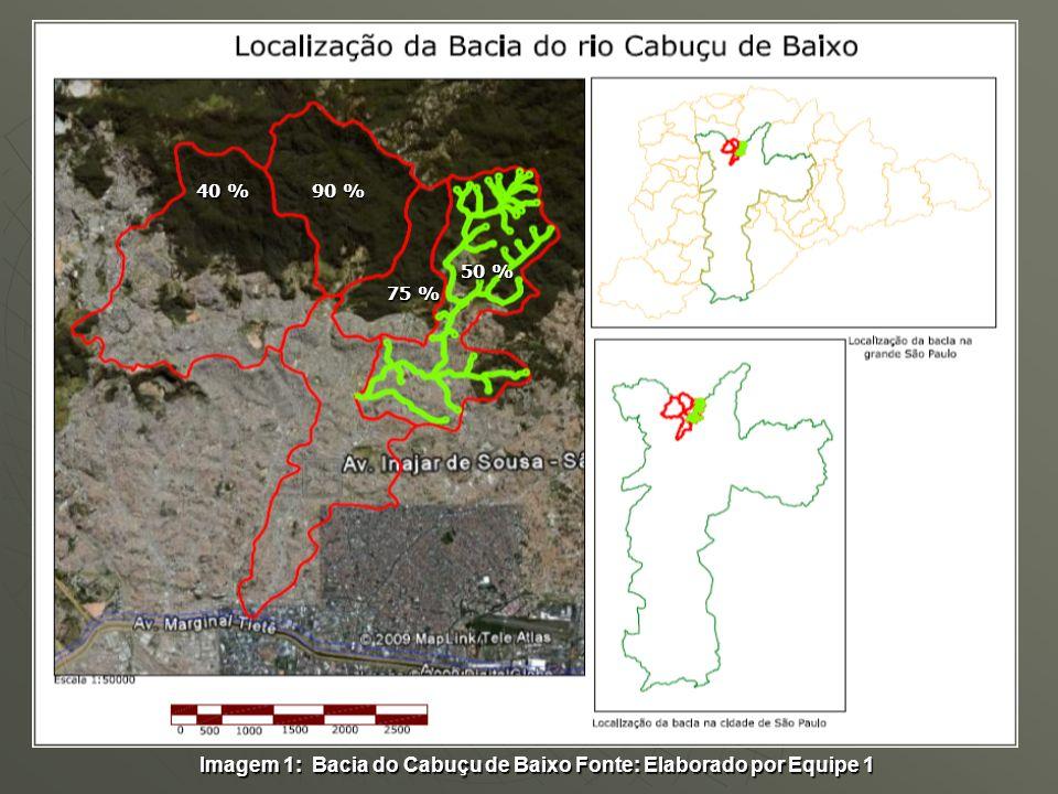 Imagem 1: Bacia do Cabuçu de Baixo Fonte: Elaborado por Equipe 1