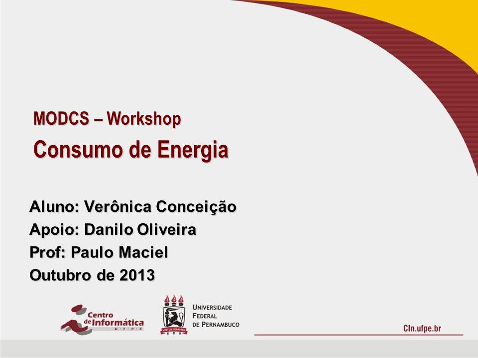 Consumo de Energia MODCS – Workshop Aluno: Verônica Conceição