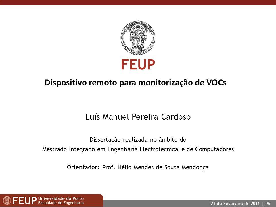 Dispositivo remoto para monitorização de VOCs