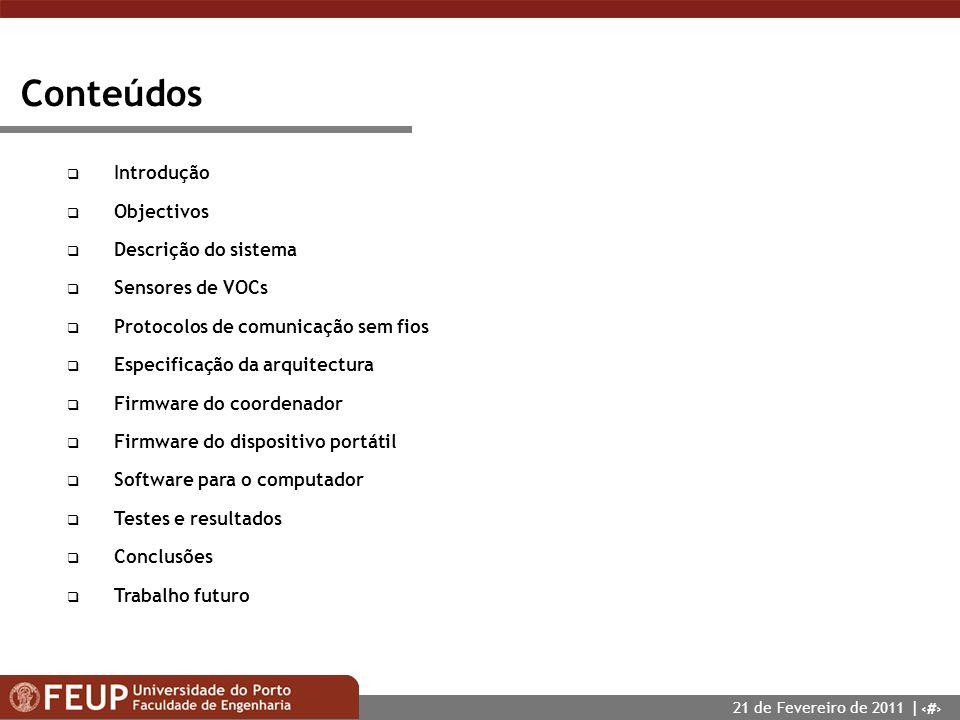 Conteúdos Introdução Objectivos Descrição do sistema Sensores de VOCs