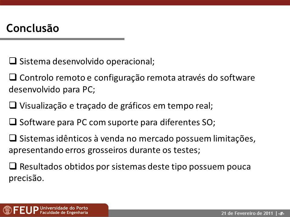 Conclusão Sistema desenvolvido operacional;