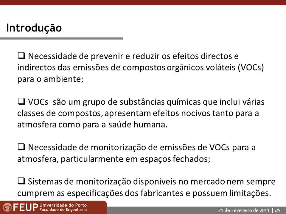 Introdução Necessidade de prevenir e reduzir os efeitos directos e indirectos das emissões de compostos orgânicos voláteis (VOCs) para o ambiente;