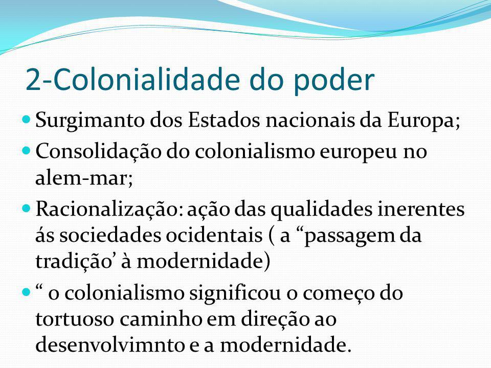 2-Colonialidade do poder