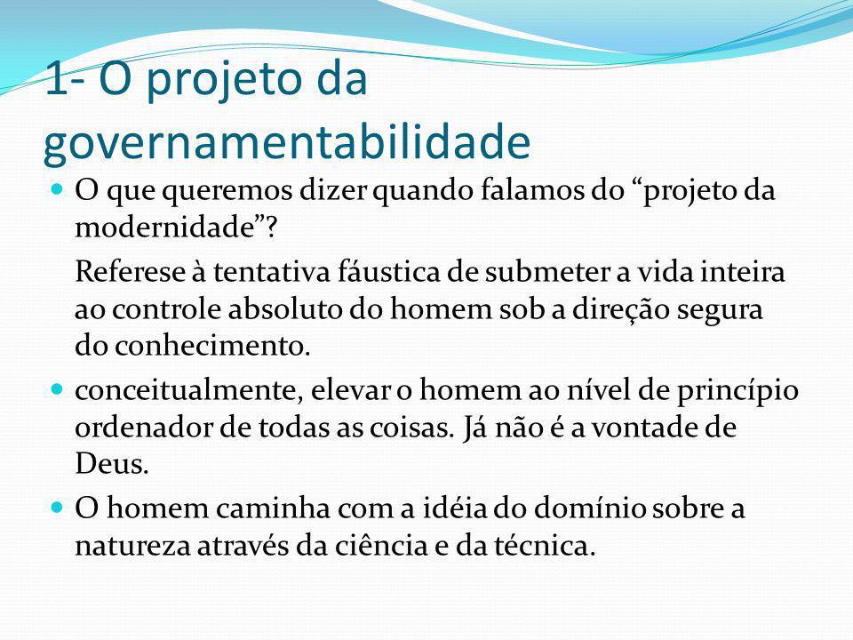 1- O projeto da governamentabilidade
