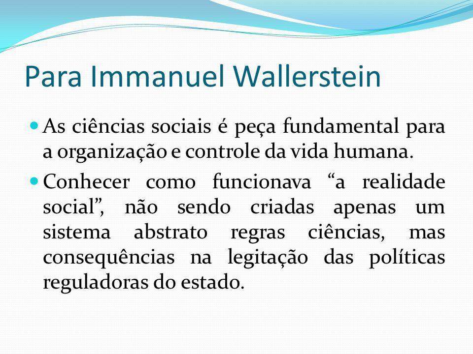 Para Immanuel Wallerstein
