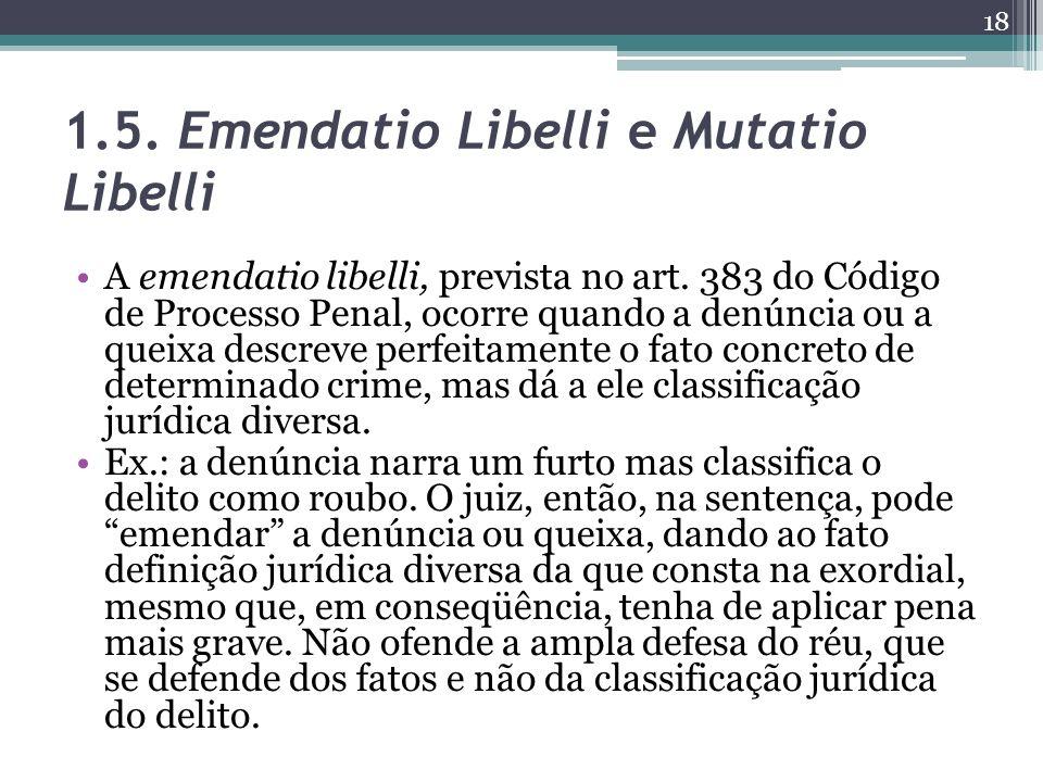1.5. Emendatio Libelli e Mutatio Libelli