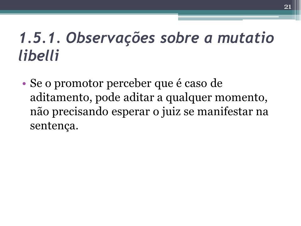1.5.1. Observações sobre a mutatio libelli