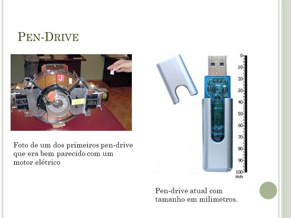 Pen-Drive Foto de um dos primeiros pen-drive