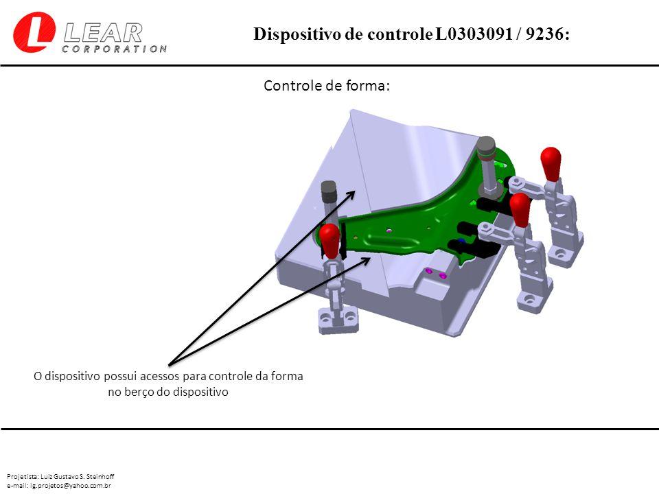 Controle de forma: O dispositivo possui acessos para controle da forma no berço do dispositivo