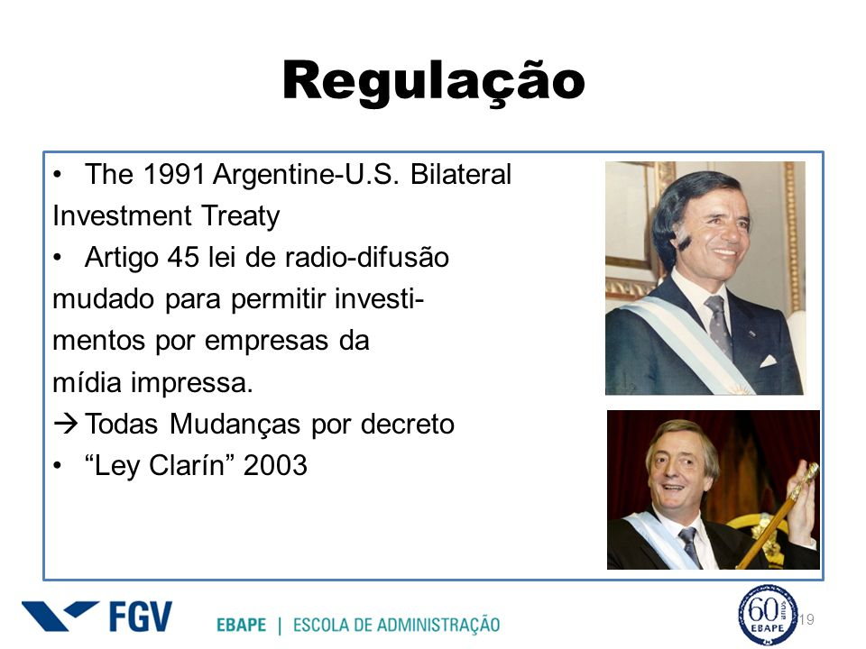 Regulação The 1991 Argentine-U.S. Bilateral Investment Treaty