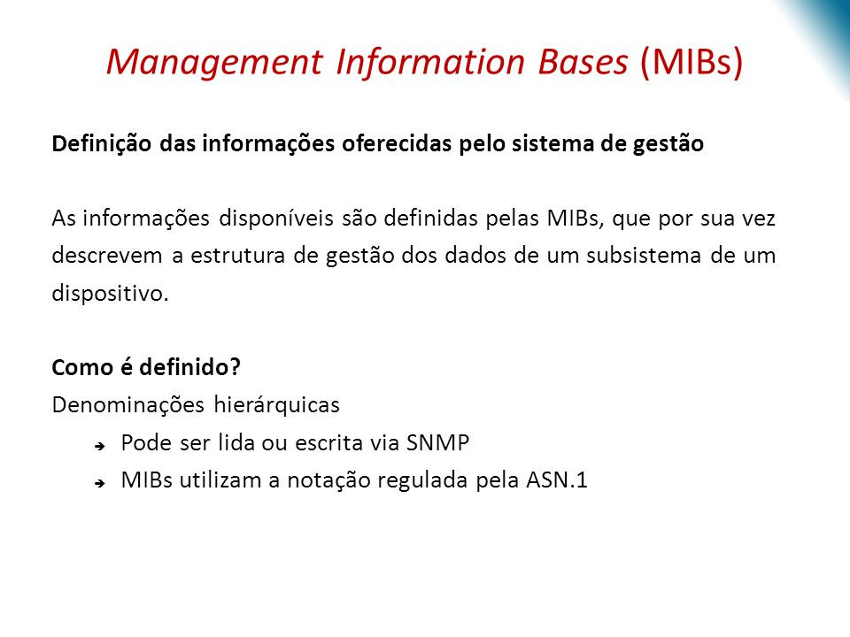 Management Information Bases (MIBs)