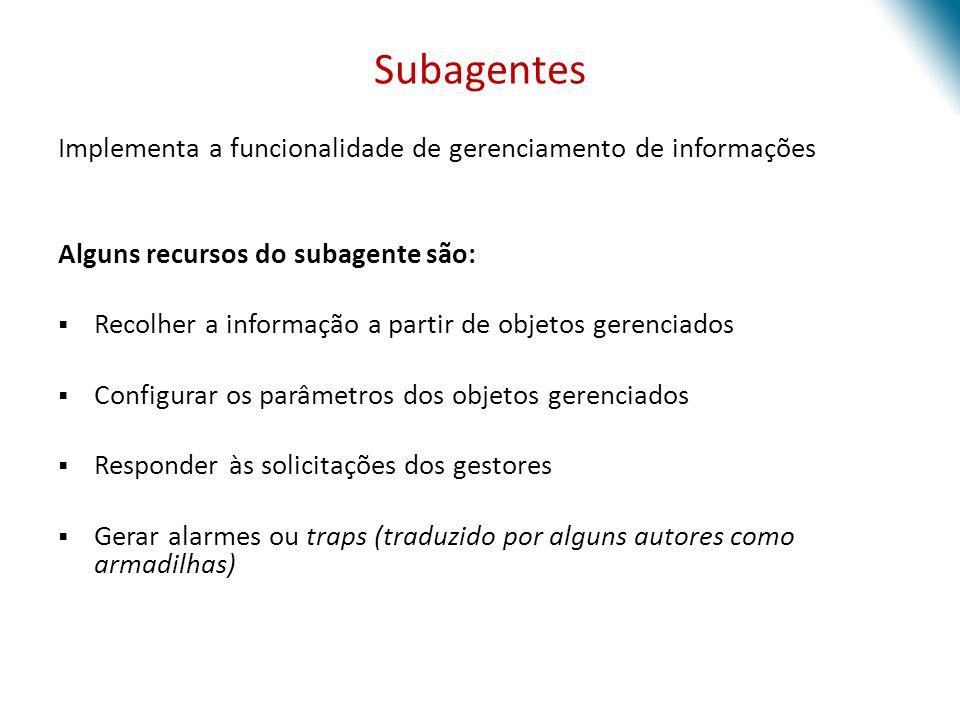 Subagentes Implementa a funcionalidade de gerenciamento de informações