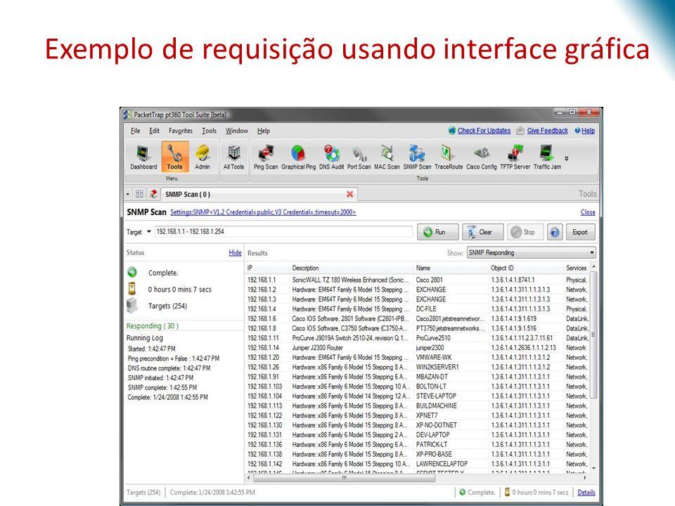 Exemplo de requisição usando interface gráfica