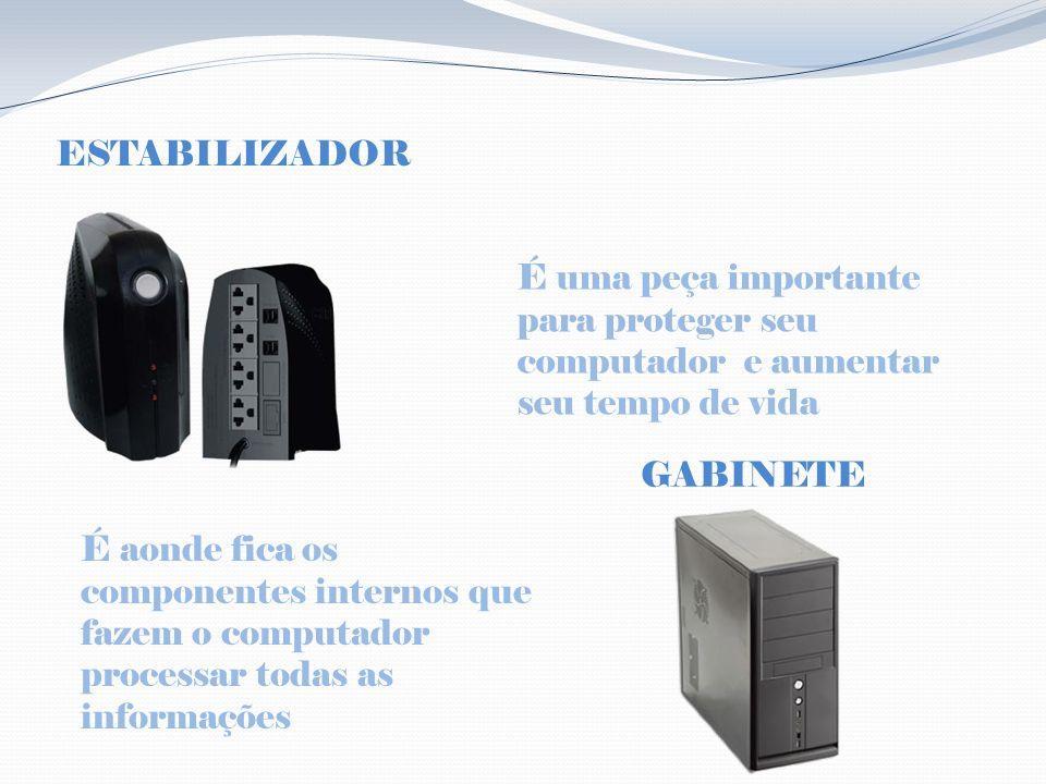 ESTABILIZADOR É uma peça importante para proteger seu computador e aumentar seu tempo de vida. GABINETE.