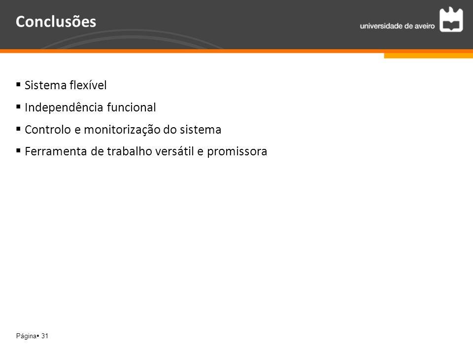 Conclusões Sistema flexível Independência funcional