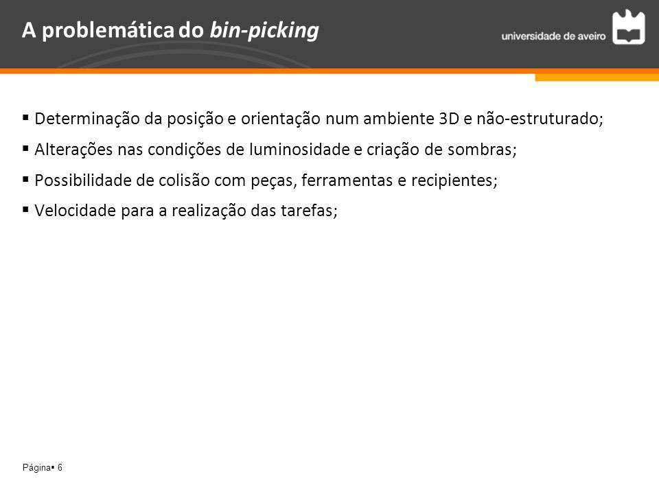 A problemática do bin-picking