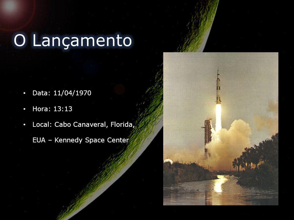 O Lançamento Data: 11/04/1970 Hora: 13:13