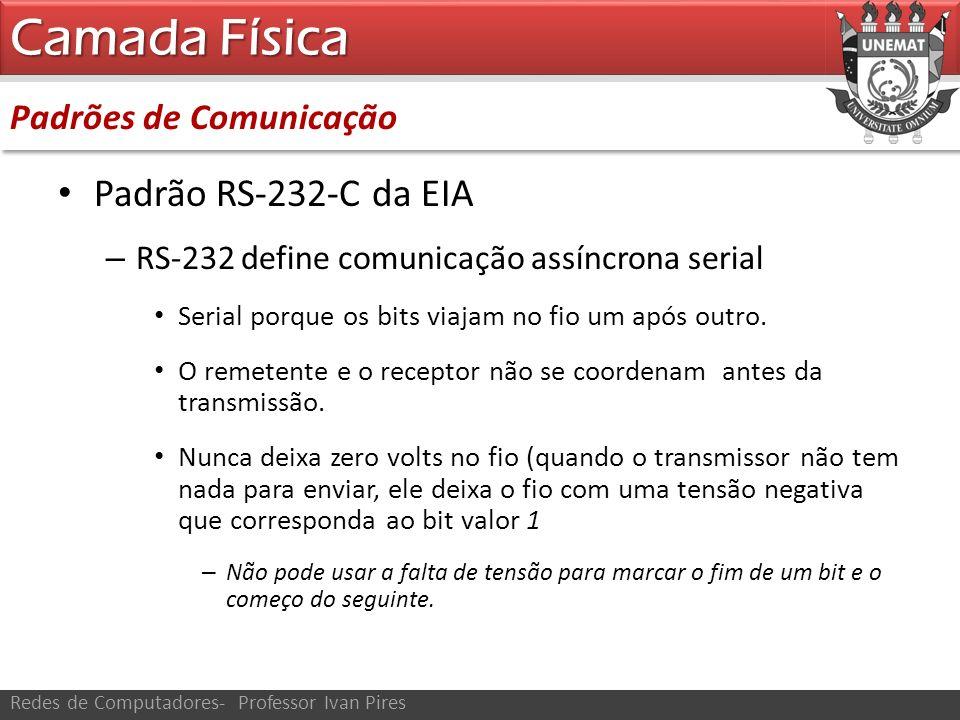 Camada Física Padrão RS-232-C da EIA Padrões de Comunicação