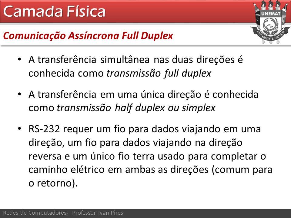 Camada Física Comunicação Assíncrona Full Duplex