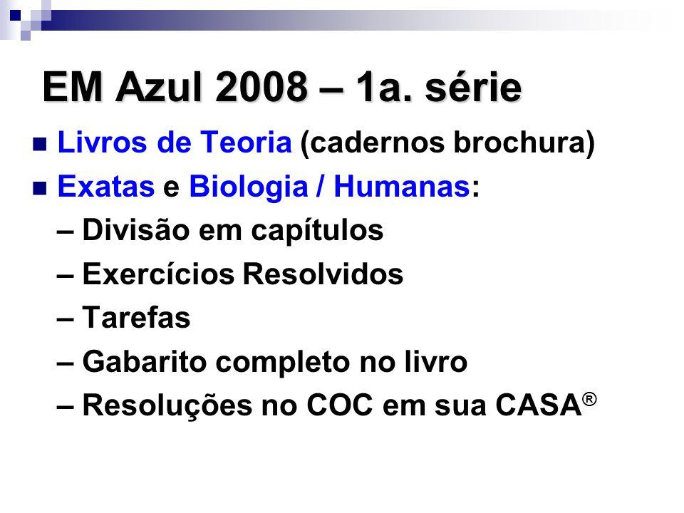 EM Azul 2008 – 1a. série Livros de Teoria (cadernos brochura)