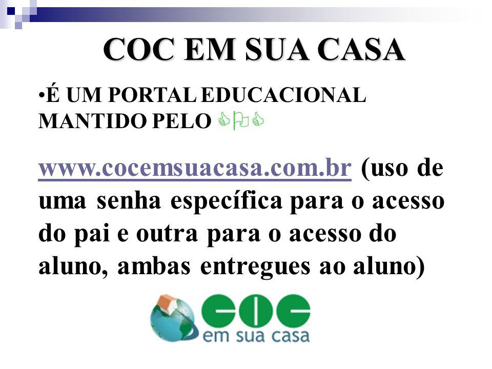 COC EM SUA CASA É UM PORTAL EDUCACIONAL MANTIDO PELO COC.