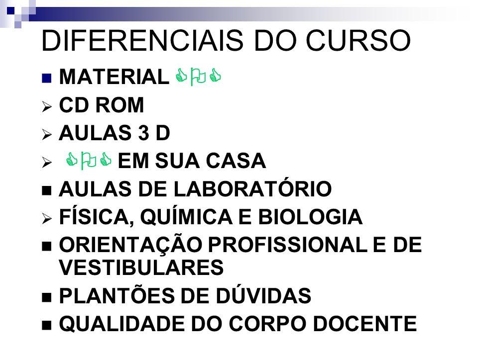 DIFERENCIAIS DO CURSO MATERIAL COC CD ROM AULAS 3 D COC EM SUA CASA