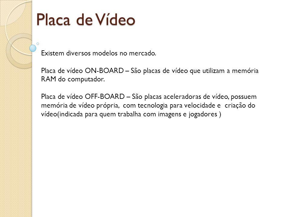 Placa de Vídeo Existem diversos modelos no mercado.