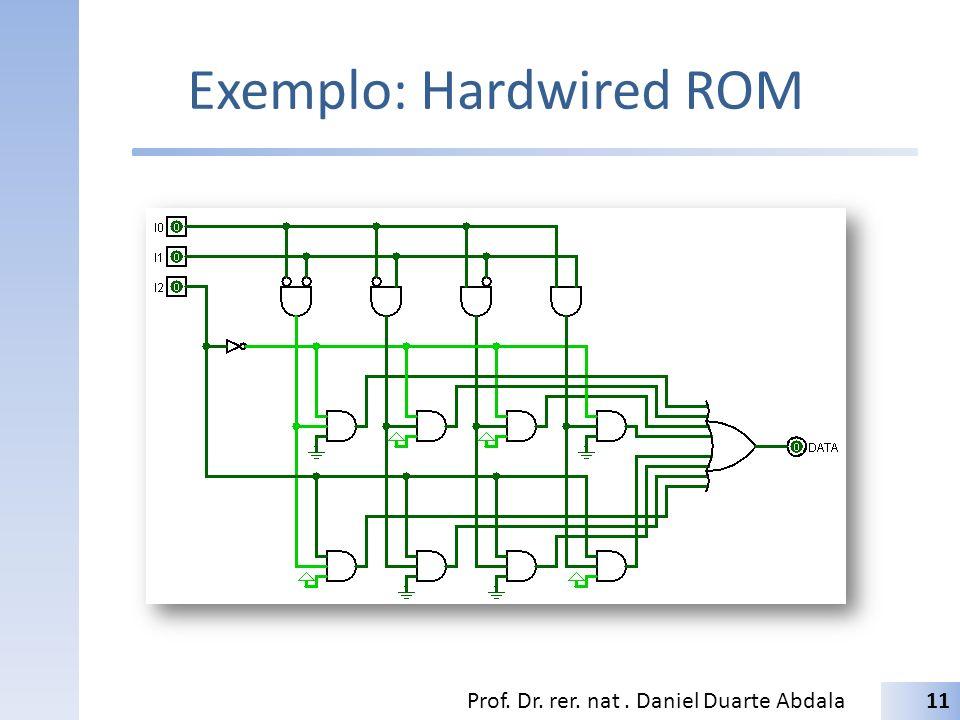Exemplo: Hardwired ROM