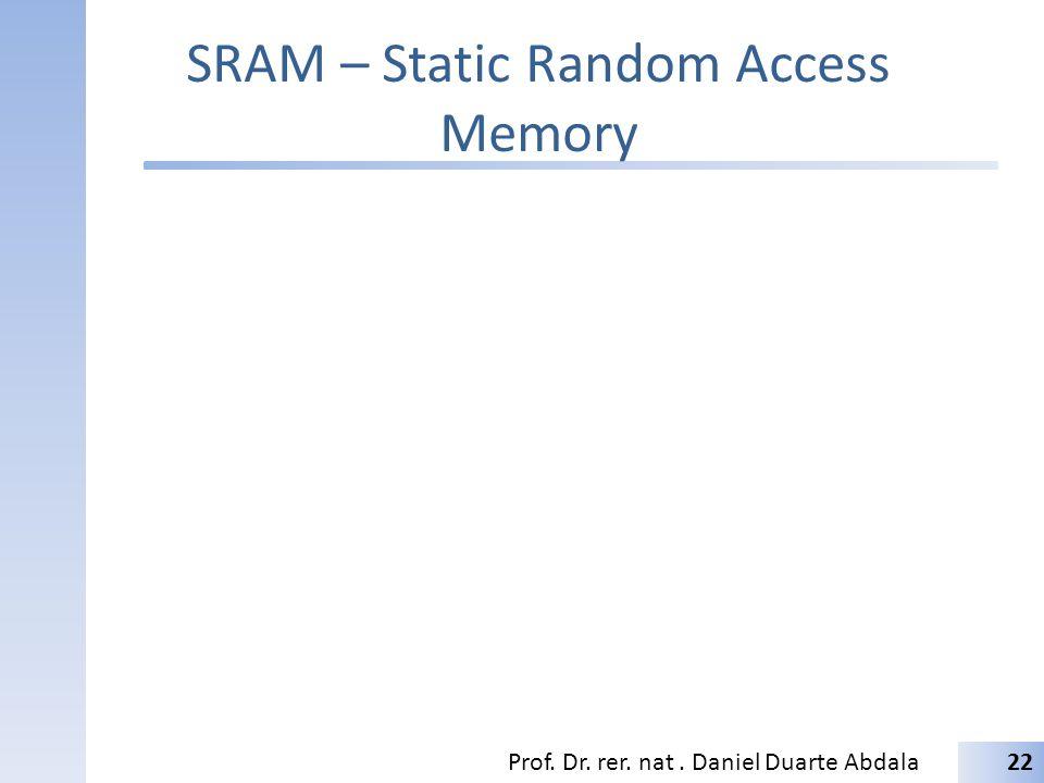 SRAM – Static Random Access Memory