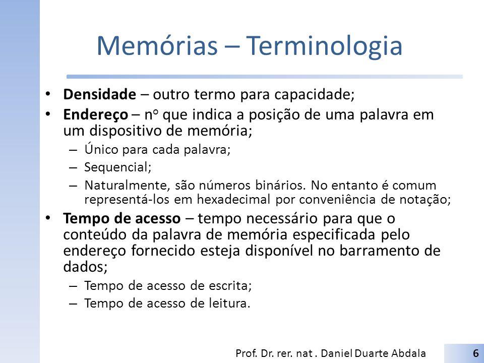 Memórias – Terminologia