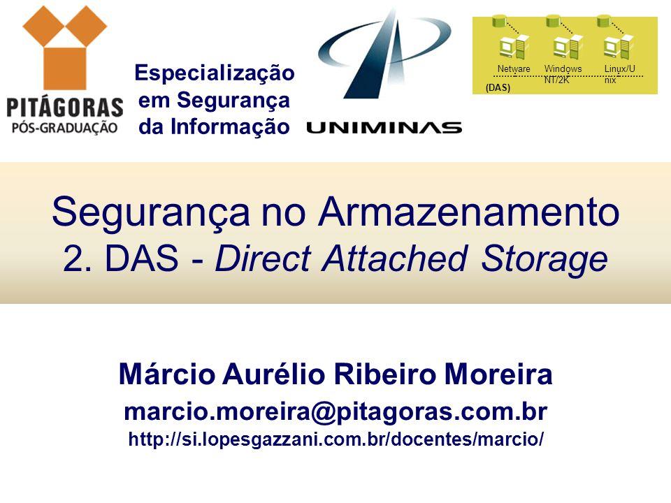 Segurança no Armazenamento 2. DAS - Direct Attached Storage