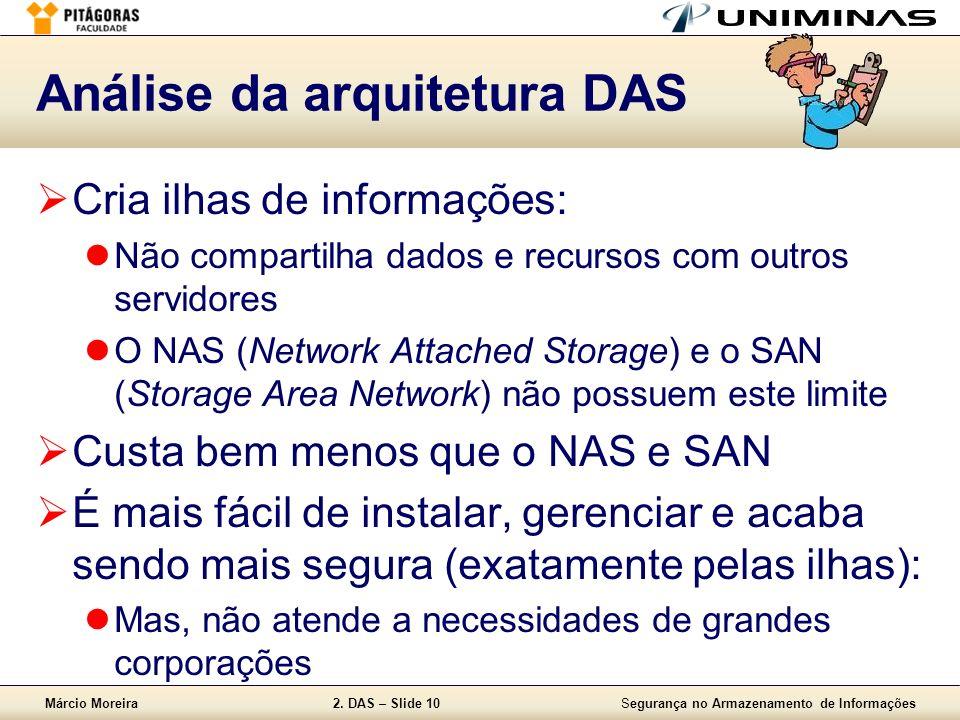 Análise da arquitetura DAS
