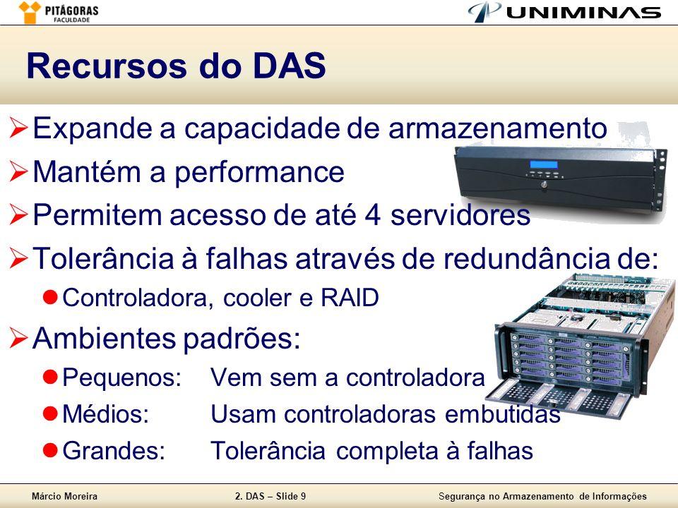 Recursos do DAS Expande a capacidade de armazenamento