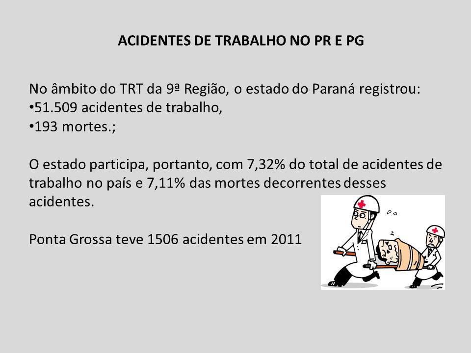 ACIDENTES DE TRABALHO NO PR E PG