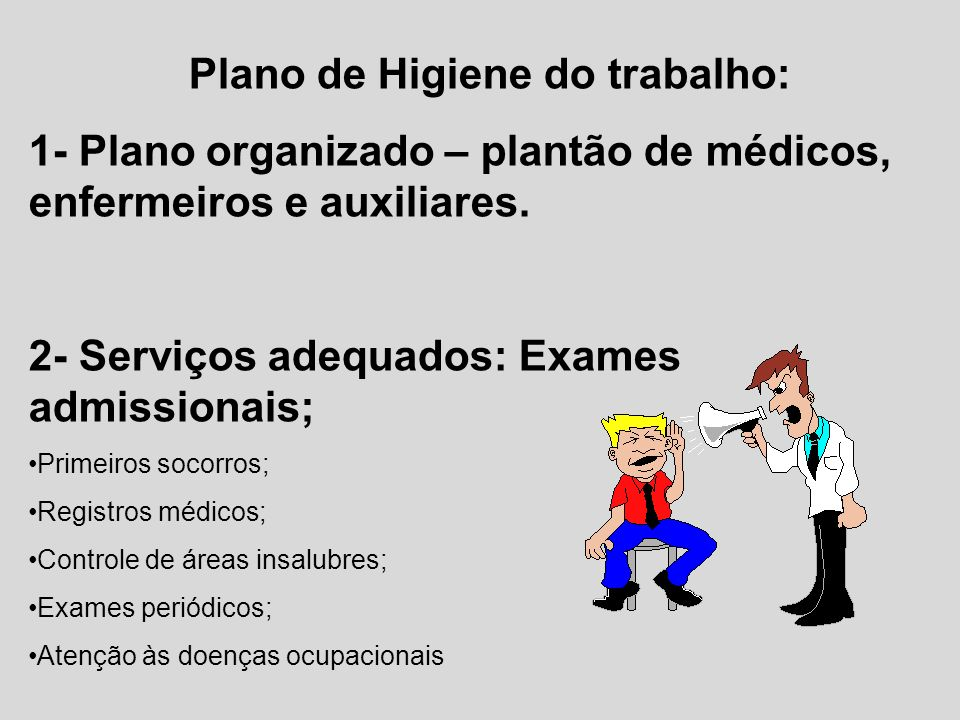 Plano de Higiene do trabalho:
