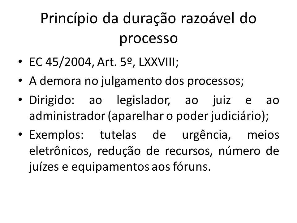 Princípio da duração razoável do processo