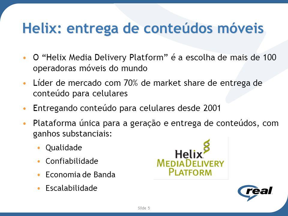 Helix: entrega de conteúdos móveis