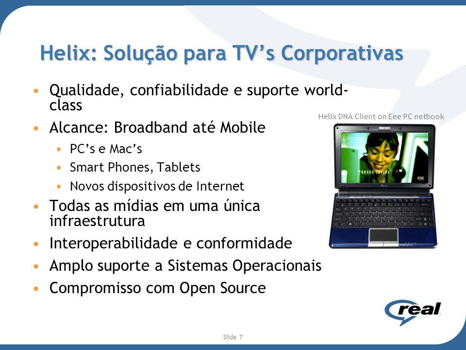 Helix: Solução para TV's Corporativas